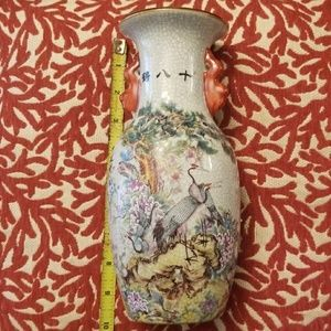 Antique chinese vase 9 1/2 inches tall